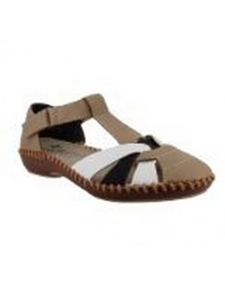 Chaussures sandales M1668-60 beige blanc RIEKER