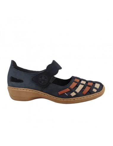 Chaussure RIEKER 41369-14 bleu - Babies confort.
