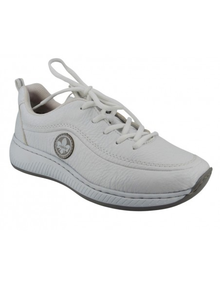 Basket sneakers N5504-80 blanc RIEKER - Semmelle à mémoire de forme