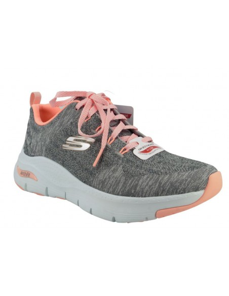Basket sneakers 149414 gris RIEKER - Semelle Arch Fit, support voûte plantaire