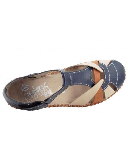 Chaussures sandales M1668-14 bleues RIEKER